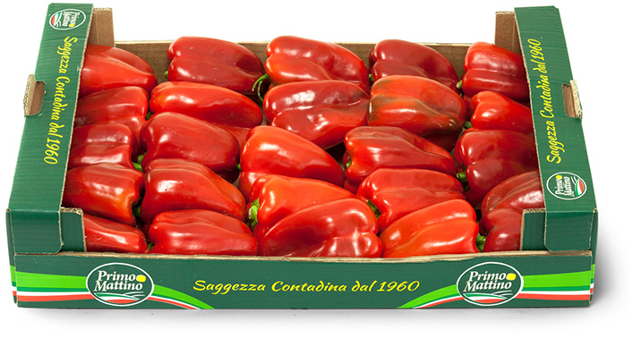 Red peppers - Cardboard box